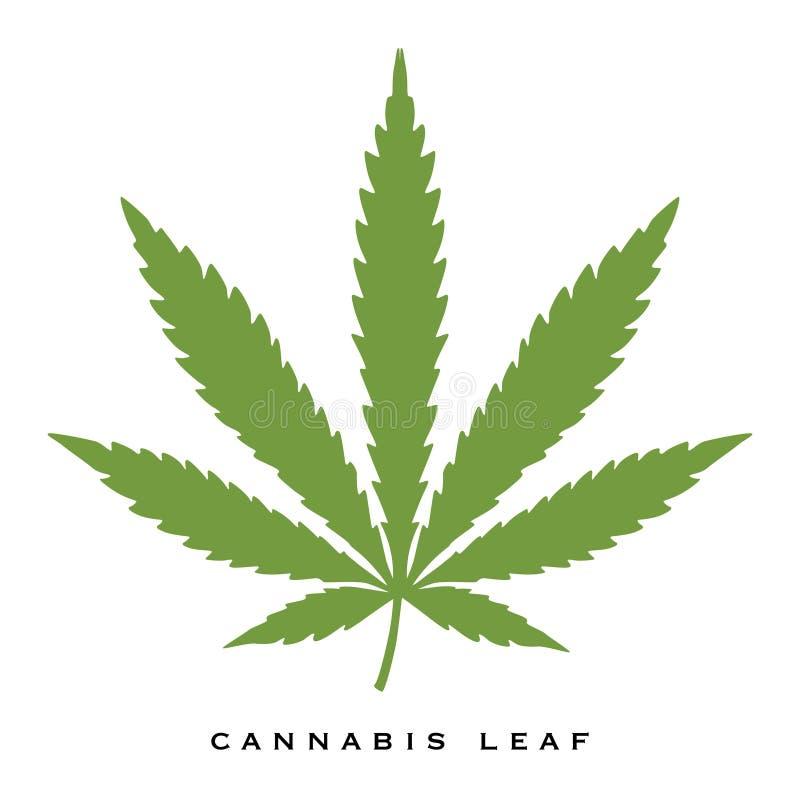 """Cannabis illustratie van de blad†de """"voorraad vector illustratie"""