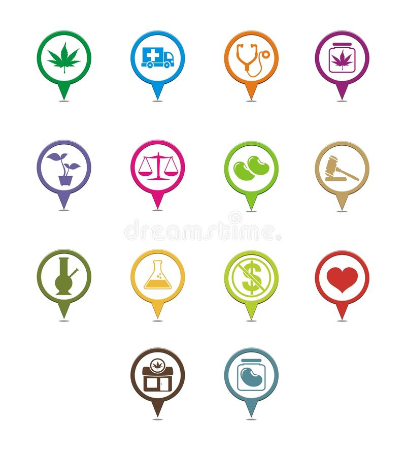 Download Cannabis-Industry Resource Pointers Stock Illustration - Image: 32644823