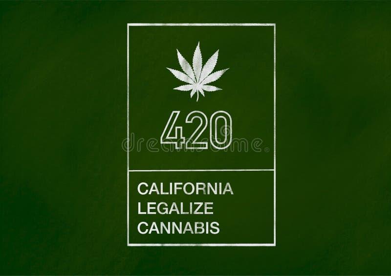 cannabis leaf California legalized stock illustration