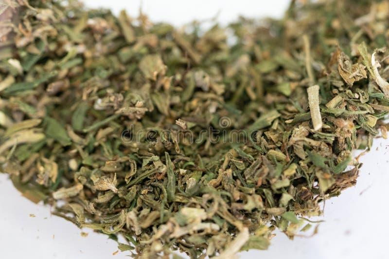 Cannabis marijuana ogräs, led för rullning av cigaretter med piptobak royaltyfri bild