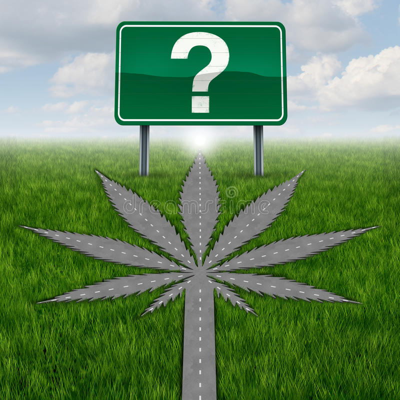 Cannabis Marijuana Questions royalty free illustration