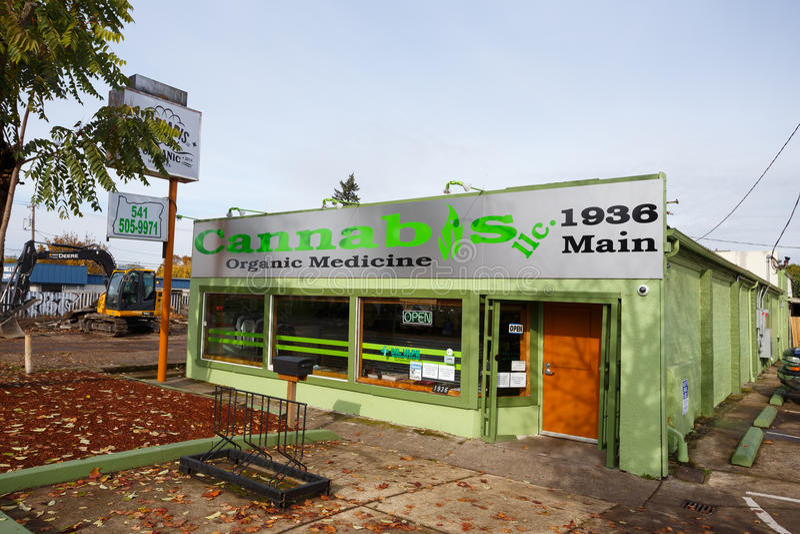Cannabis Retail Storefront Portland Editorial Photo - Image