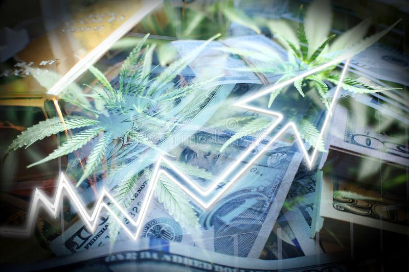 Cannabis Penny Stock Investing High Quality royalty-vrije illustratie