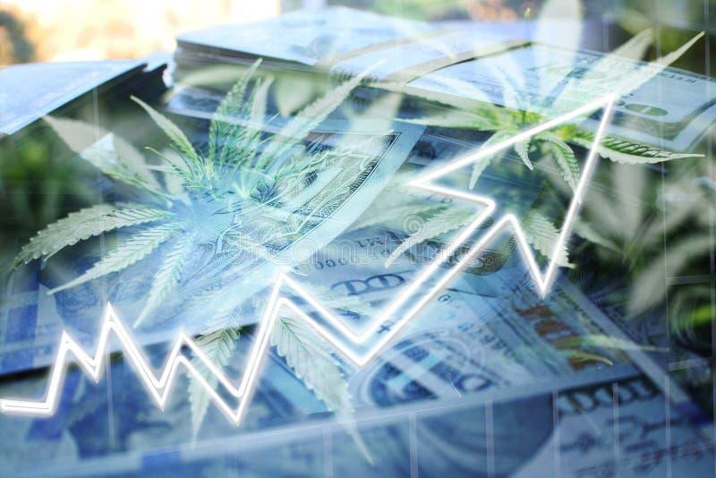 Cannabis Sativa Penny Stocks Soaring High Quality stock illustratie
