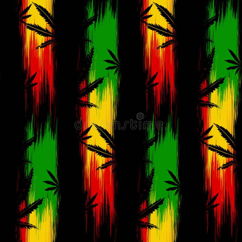 Cannabis senza cuciture del modello royalty illustrazione gratis