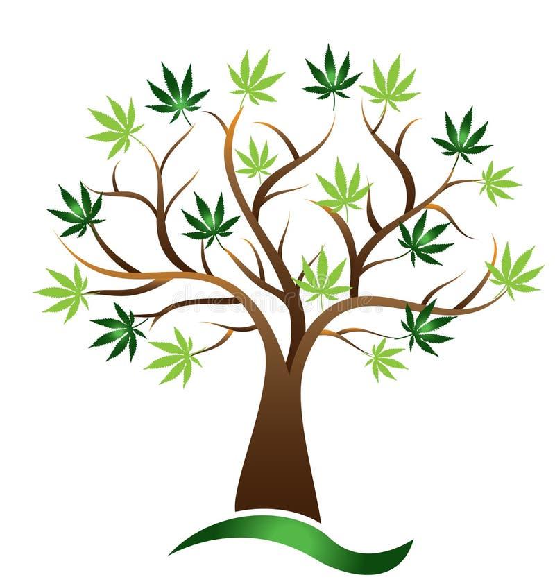 Cannabis tree marijuana vector icon royalty free illustration
