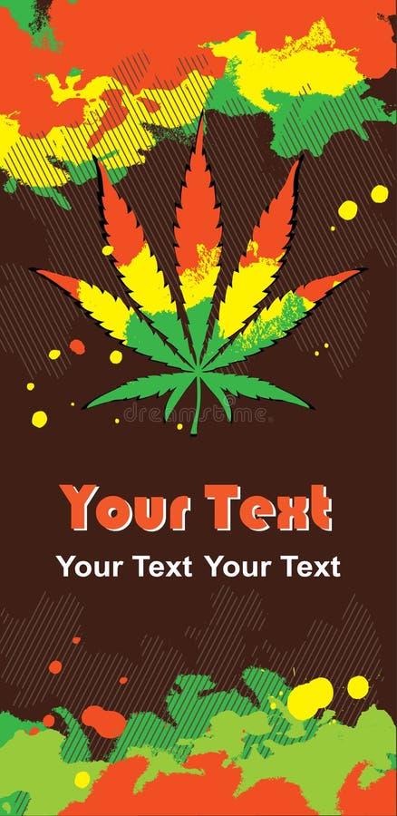 cannabisen colors leafen rastafarian vektor illustrationer
