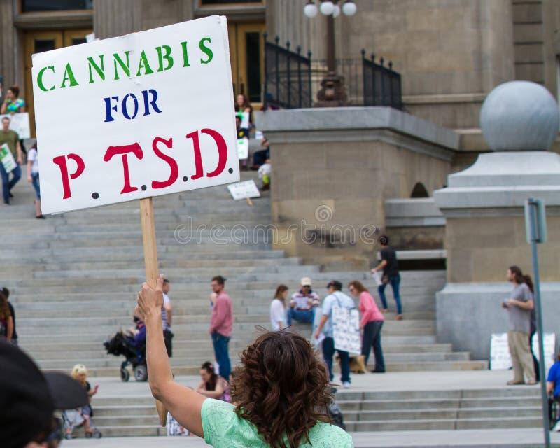 Cannabisgebruik voor PTSD royalty-vrije stock foto's