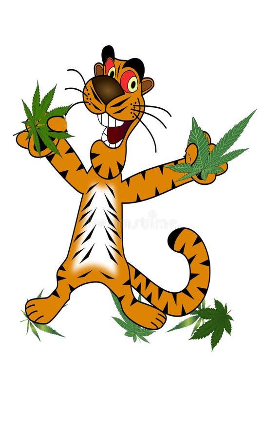 Cannabistijger stock afbeeldingen