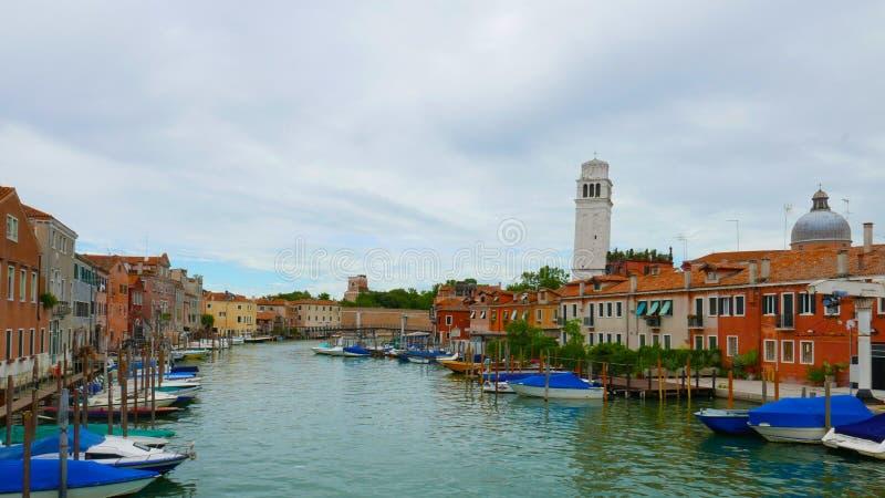 Cannal de le galeazze near to the Venetian Arsenal royalty free stock photos