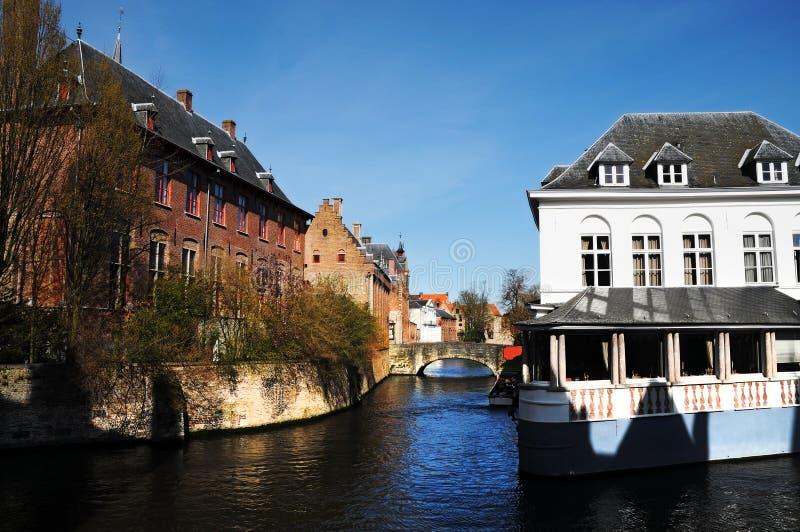 Cannal di Bruges immagini stock
