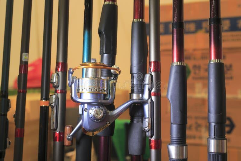Canne à pêche photographie stock libre de droits