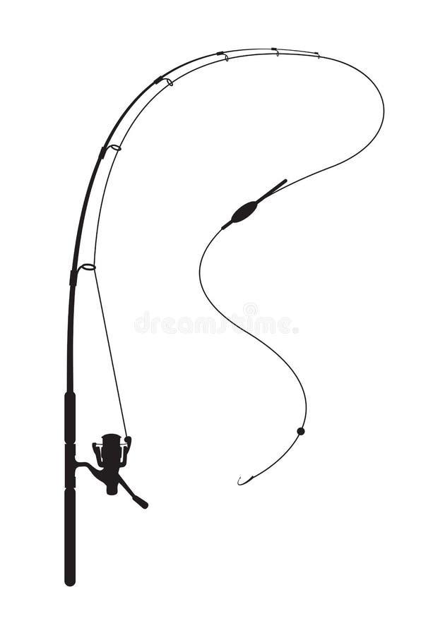 Canne à pêche illustration libre de droits