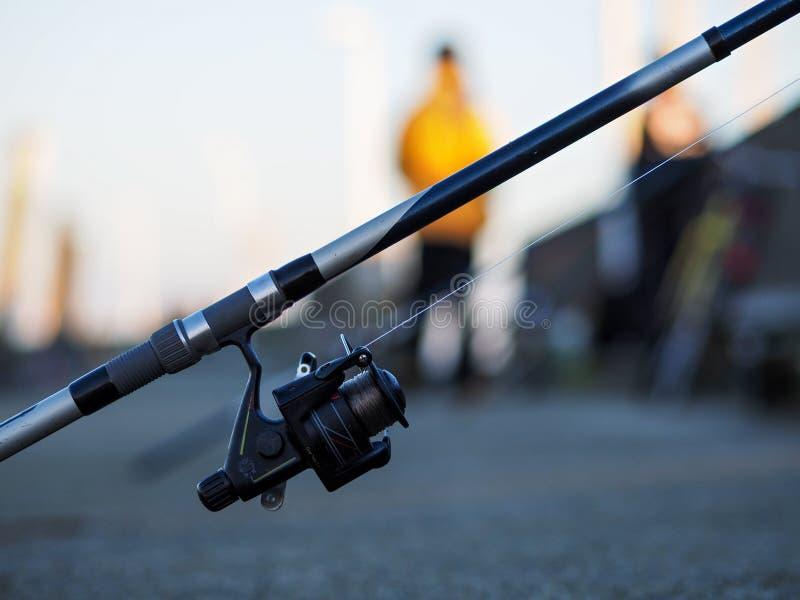 Canne à pêche dans Wilhelmshaven images stock