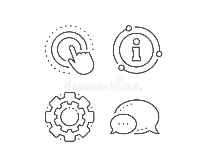 Canne à pêche de clic icône Signe de geste d'écran tactile Action de pouss?e Vecteur illustration de vecteur