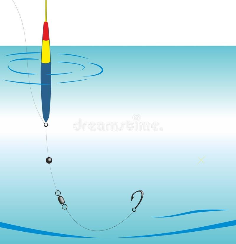 Canne à pêche de dispositif illustration libre de droits