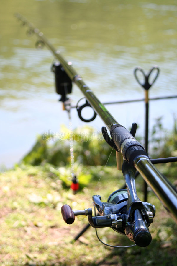 Canne à pêche de pêcheurs photographie stock