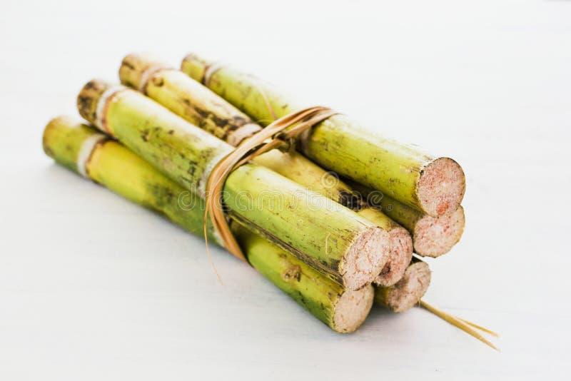 Canne à sucre du Mexique sur un aliment mexicain de fond blanc image stock