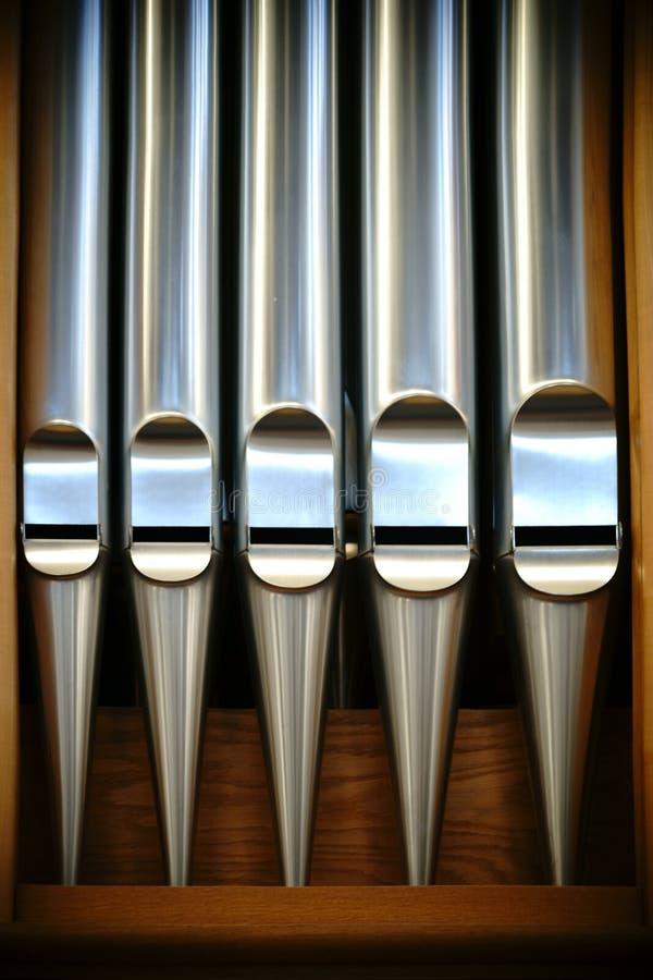 Canne d'organo fotografia stock