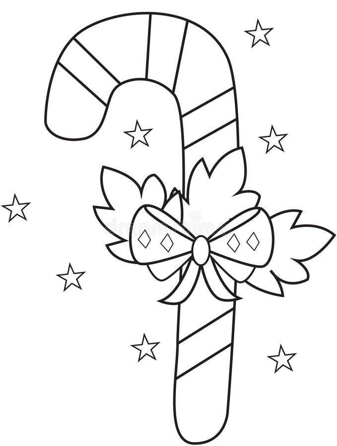 Canne de sucrerie illustration libre de droits