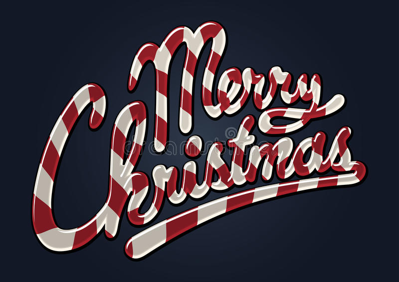 Canne de sucrerie de Joyeux Noël illustration libre de droits