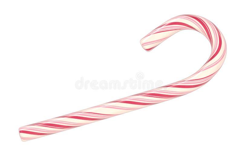 Canne de sucrerie de Noël d'isolement sur le fond blanc illustration stock