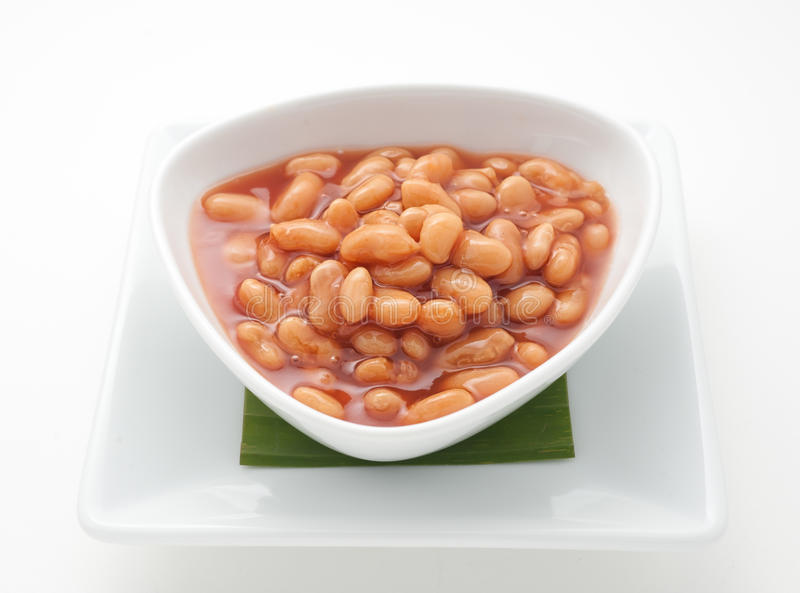 Canned beans royalty free stock photo