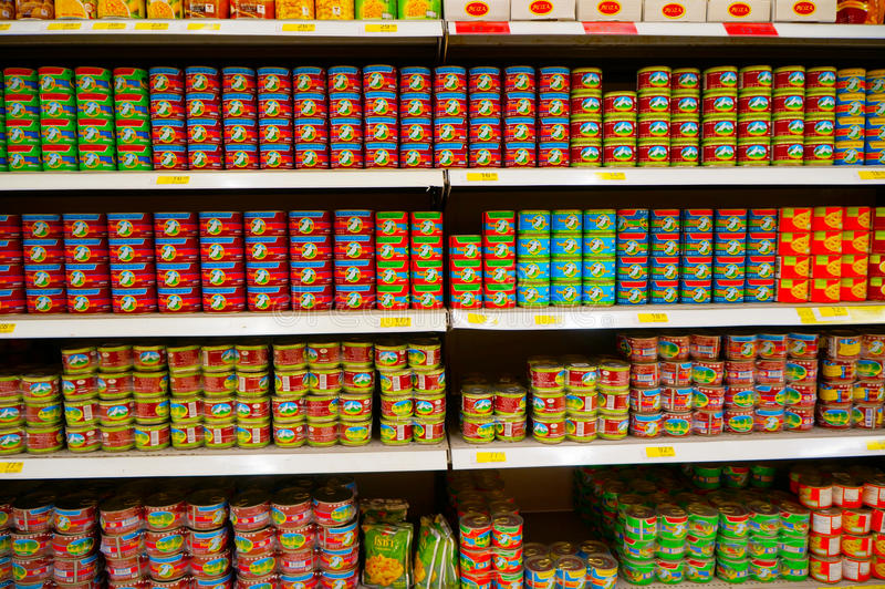 Canned Fish royalty free stock images