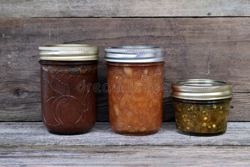 Canned food from the farm stock photography