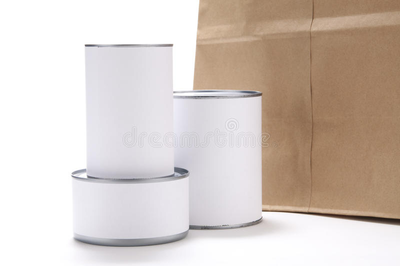 Download Canned Food With Grocery Bag Stock Image - Image: 13070439