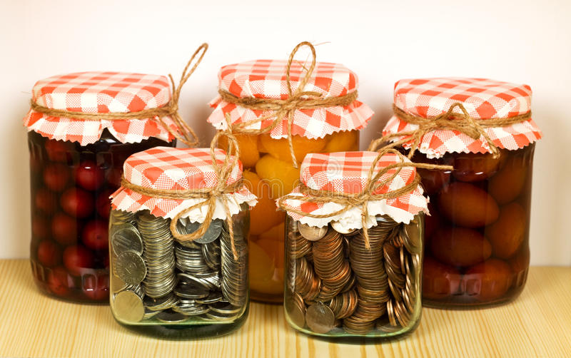 Download Canned Goods On The Shelf - Savings Concept Stock Photo - Image: 18430012