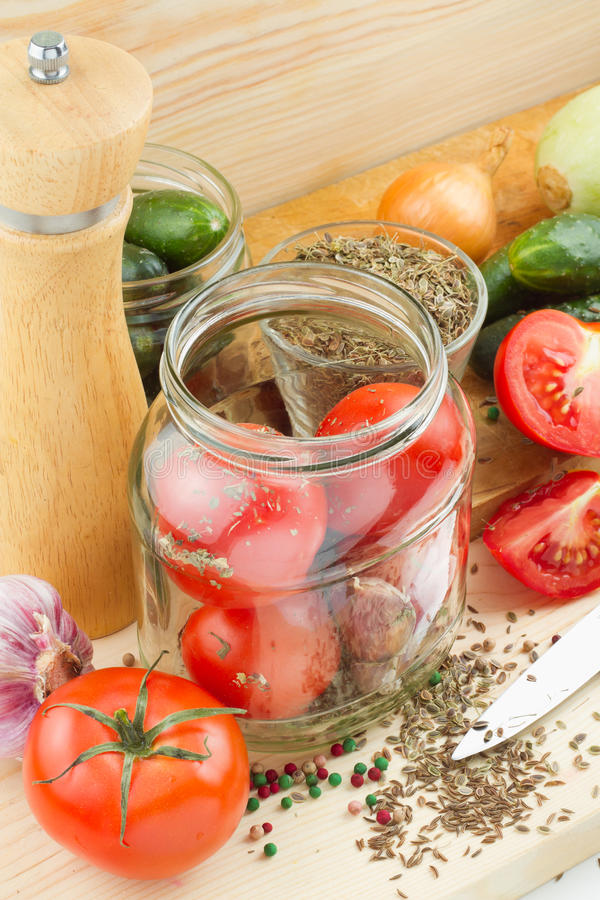 Download Canned Tomatoes And Cucumbers Stock Photo - Image of green, cooking: 25438188