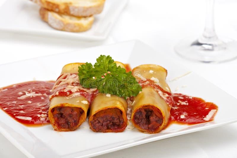 cannelloni стоковое изображение rf