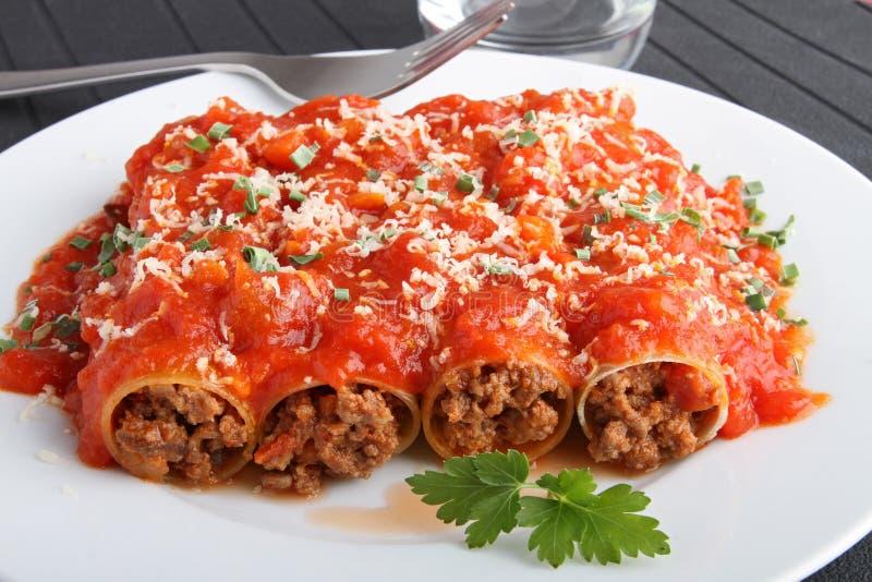 Cannelloni photo libre de droits