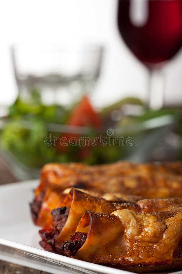 Download Cannelloni stock photo. Image of herb, garnish, minced - 23639470