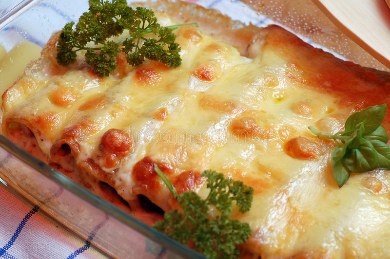 Cannelloni royalty free stock photo