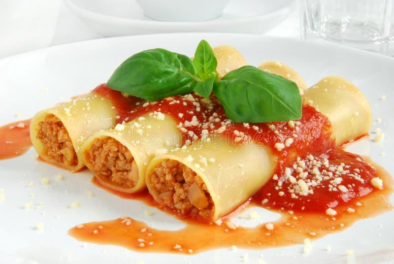 Cannelloni foto de archivo