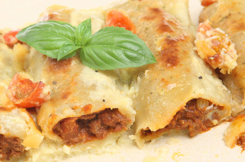 Cannelloni Pasta royalty free stock image