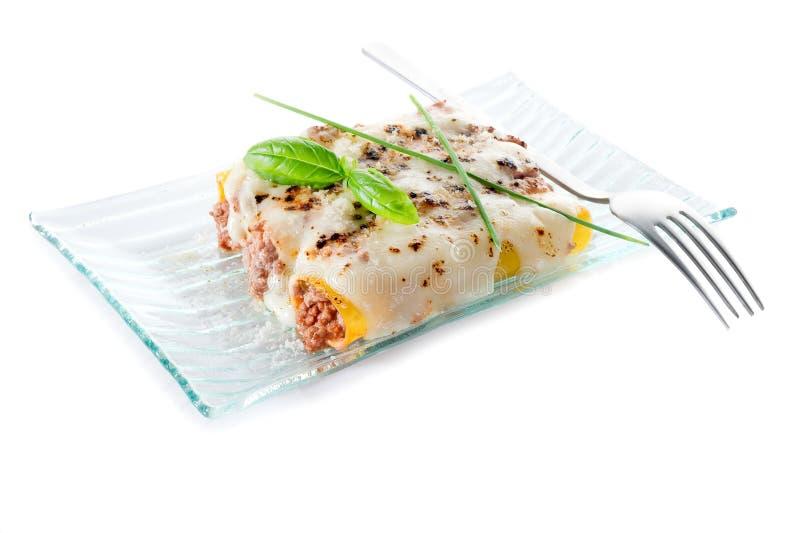 Cannelloni Ragout lizenzfreies stockfoto