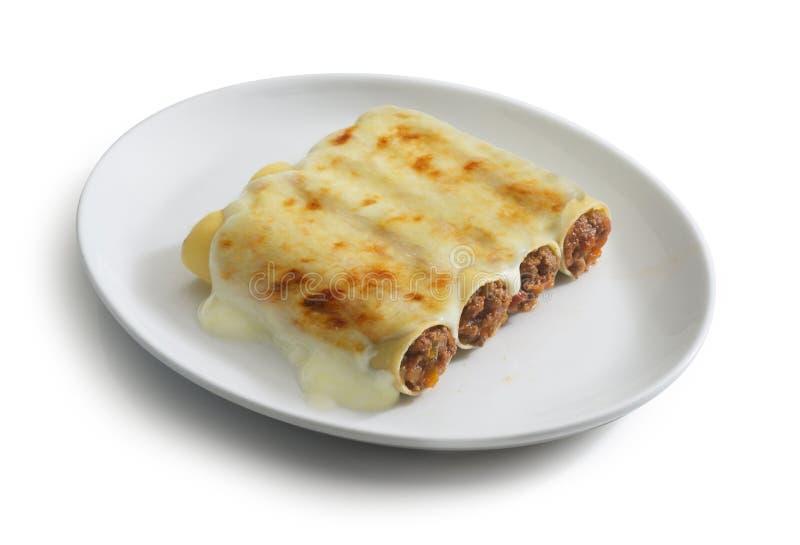 Cannelloni z mięsnym kumberlandem zdjęcie stock