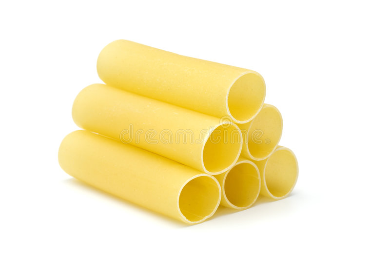 Cannelonni past tubes stacked stock photo