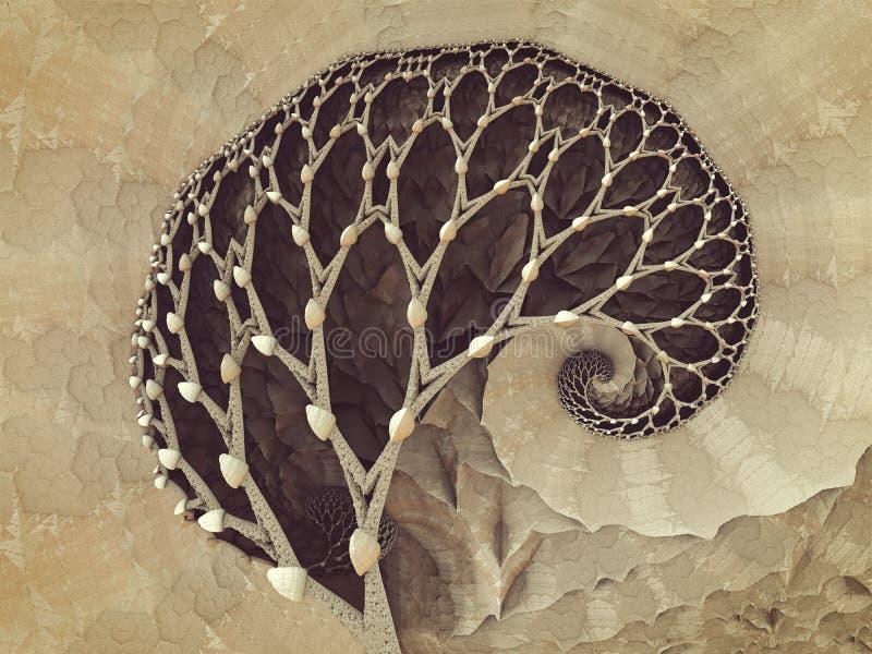 Cannelure abstraite illustration de vecteur