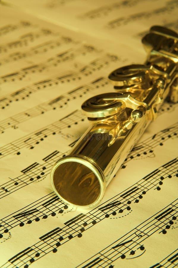 Cannelure d'or - fond de musique photos stock