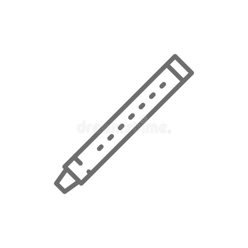 Cannelure, sopilka, clarinette, ligne icône de basson illustration libre de droits