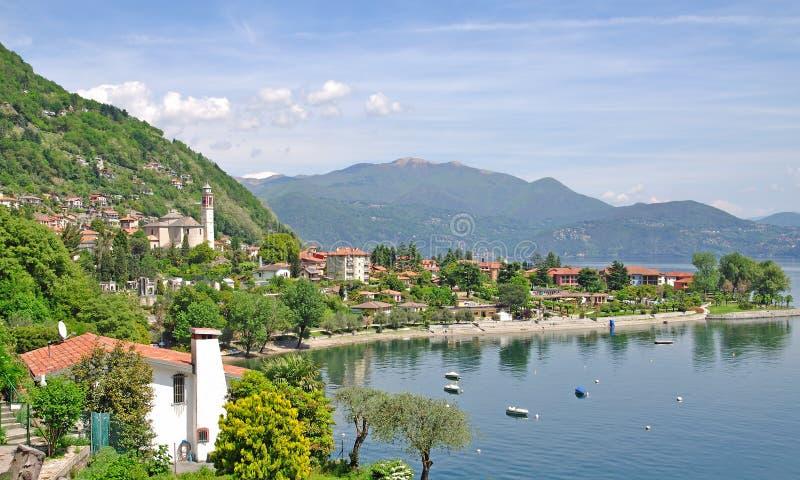 Cannero Riviera, lago Maggiore, Lago Maggiore, Italia foto de archivo