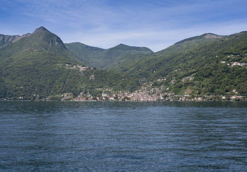 Cannero Riviera - sjö Maggiore, Lombardy, Italien, Europa royaltyfri bild