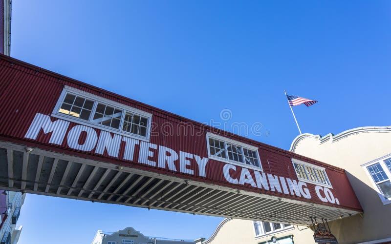 Cannery rząd, Monterey zatoka, półwysep, Monterey, Kalifornia, Stany Zjednoczone Ameryka, Północna Ameryka obrazy stock