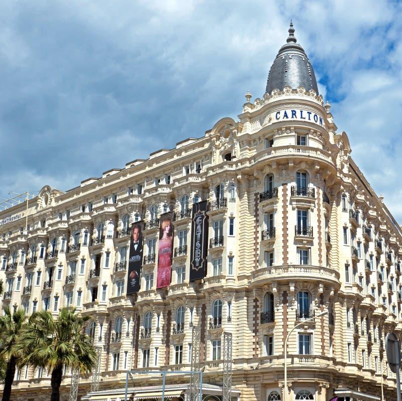 Cannes - albergo di lusso Carlton fotografia stock