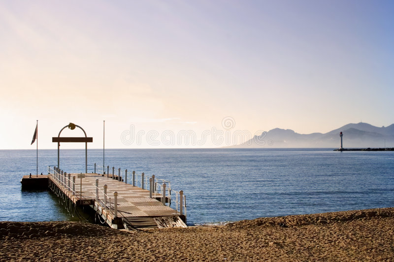 Cannes beach - France royalty free stock photo