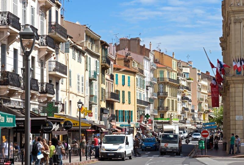 Cannes - ciudad vieja imagenes de archivo
